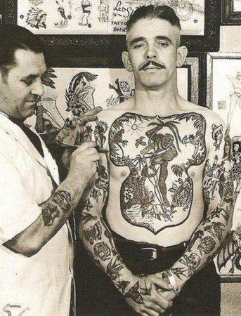 Tatuagens na década de 1970