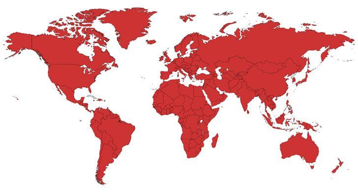 A Coca-Cola está disponível de forma não oficial em todos os países do mundo