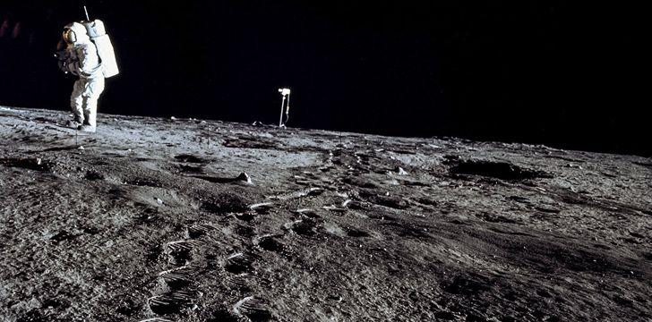 As pegadas deixadas na Lua não desaparecerão, pois não há vento