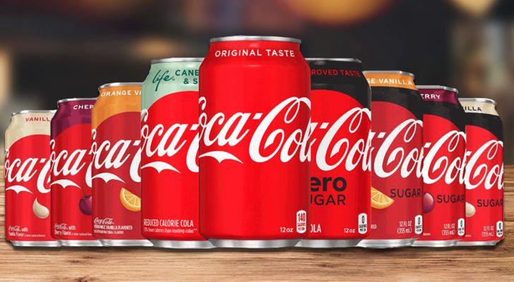 Há pelo menos 16 sabores diferentes de Coca-Cola.