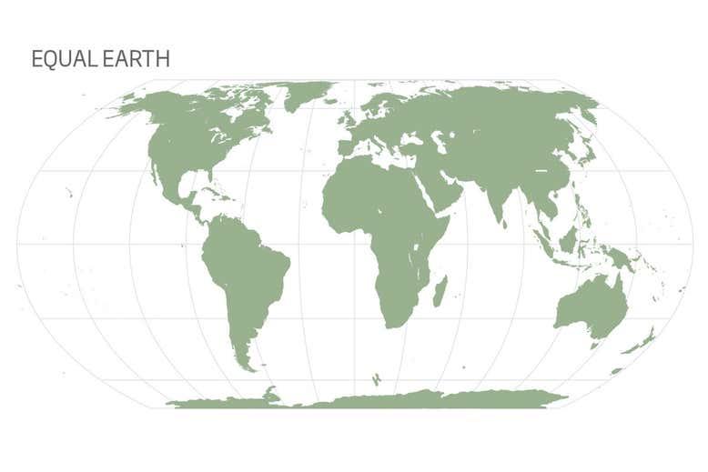 Novo mapa mundi mostra o tamanho do Brasil 2
