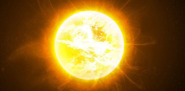 O Sol faz uma rotação completa a cada 25 - 35 dias